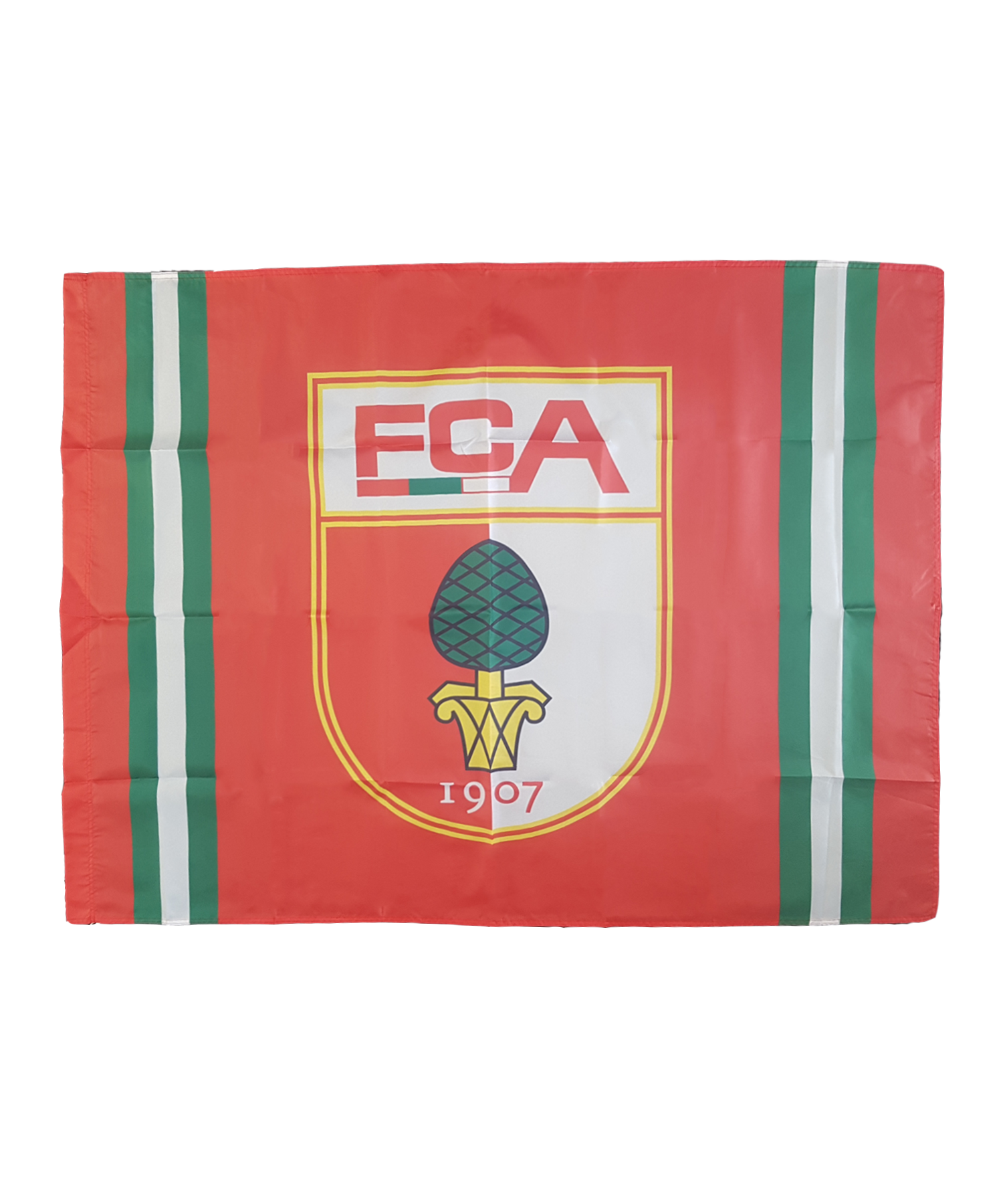 Fahne Rot Weiß Rot: FC Augsburg Fahne Logo 100x140cm Mit Holzstock Rot