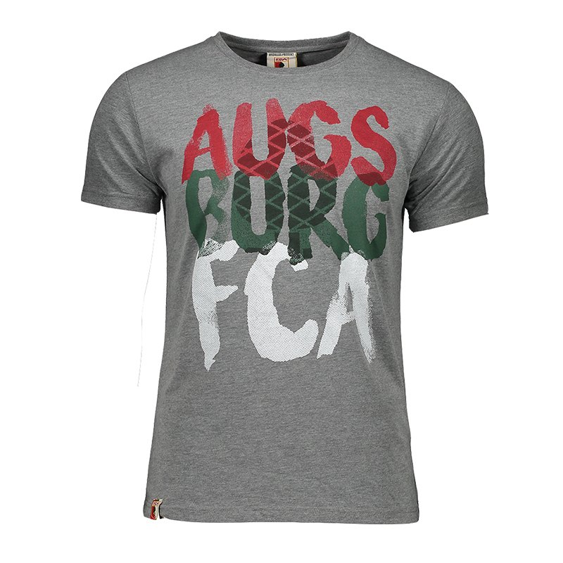 FC Augsburg Fan T-Shirt Kids Grau - grau