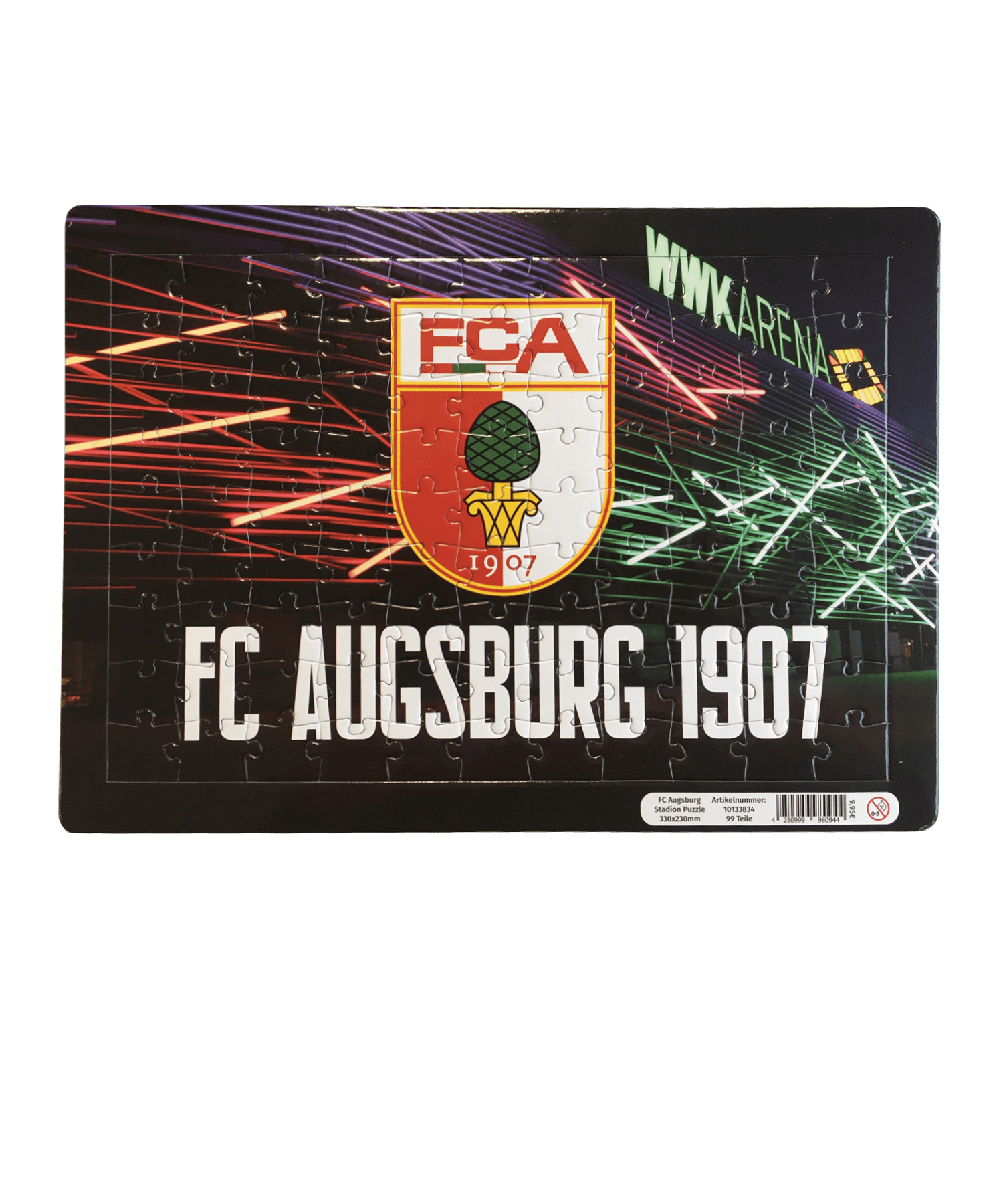FC Augsburg Stadion Puzzle 330x230mm - weiss