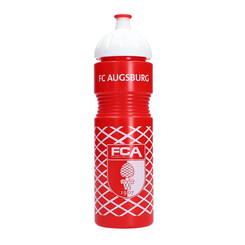 FC Augsburg Trinkflasche 750ml Rot Weiss - rot