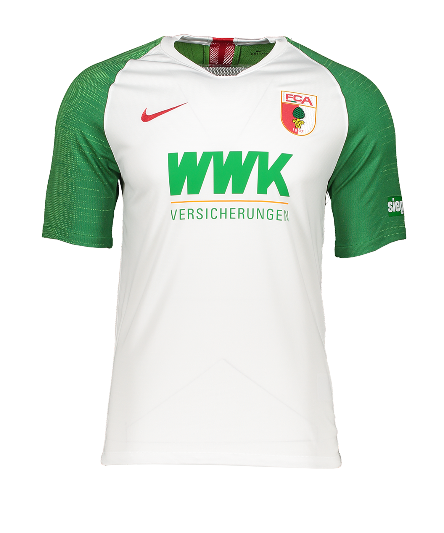 Nike FC Augsburg Trikot Home 2019/2020 Weiss F103 - weiss
